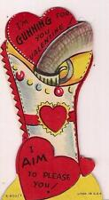 Gunning For You Pistol Gun In Holster I Aim To Please You Valentines Day Card