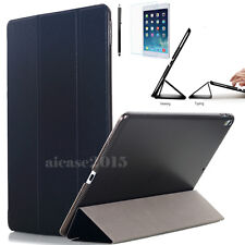 """Black New iPad Pro 10.5"""" 2017 Slim Magnetic Smart Leather Case Clear Back Cover"""