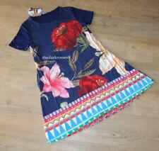 Desigual Kleid  gr. XL  42  A linie Sommerkleid Mohnblume   hippie boho  Neu