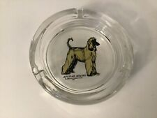 New listing 1968 Afghan Hound Glass ashtray by Larklain Products limited 5 inch diameter