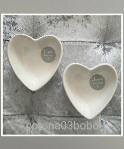Mrs Hinch Tesco Heart Dipping Bowl X2 Tableware Home Homewear NEW COLLECTION 🤍