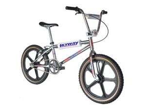 Skyway TA 20 PRO Replica Complete BMX Bike 21.5TT CHROME/BLACK WHEEL Old School