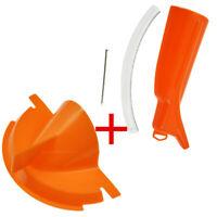 Orange Re-usable Drip-Free Primary Oil &Oil Catcher Drain Oil Funnel For Harley