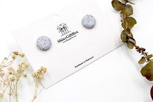 Granite Minimal Studs - Handmade Polymer Clay Stud Earrings