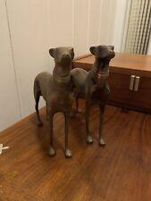 Pair of Vintage Brass Greyhound Whippet Dog Figur 00004000 es Standing