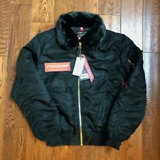 New Alpha Industries B-15 Slim Fit Jacket MA-1 Removable Collar Size Large L