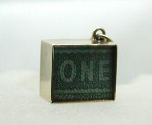 1970's Vintage 9 carat Gold One Pound Emergency Money Charm