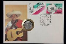 Numisbrief | Mexico 1986 Fußball WM | 25 Pesos Silbermünze 1985 | NB1374