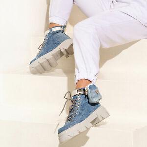 By Alina Mexton Damen Schuhe Halbstiefel Jeans Stiefel Boots sneaker Münztasche