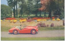 Triumph TR2 Original Factory Issued colour Postcard