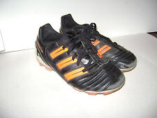 ADIDAS PREDATOR FUTBALL SOCCER CLEATS YOUTH BOYS SHOES size 2.5 M BLACK ORANGE