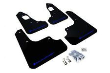 Rally Armor Mud Flaps Guards for 08-15 Lancer EVO X (Black w/Blue Logo)