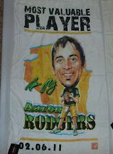 "GREEN BAY PACKERS AARON RODGERS 41"" x 24"" MVP NFL FOOTBALL BATH BEACH TOWEL 12"
