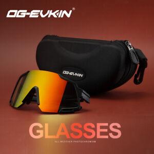 OG-EVKIN Cycling Sunglasses Bike Bicycle Sports Glasses Goggles Black New