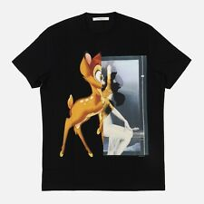 Givenchy Black Bambi Print T-Shirt | Size XS Relaxed fit SS18 RRP $790