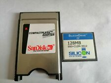 SiliconDrive  128MB CF with Compact Flash Card adapter PC PCMCIA Card