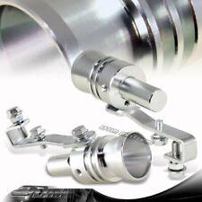2X Turbo Sound Fake Blowoff BOV Simulator Exhaust Muffler Pipe Silver Whistle XL