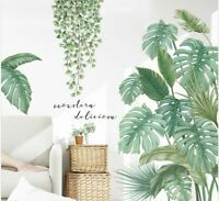 Wall stickers Tropical Plant Leaves vines Decal Art Nursery Removable Decor