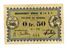 Senegal … P-1c … 50 Centimes … 1917 … *F-VF*