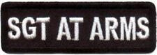 SGT AT ARMS Embroidered Officer MC Club Motorcycle NEW Biker Vest Patch PAT-1615