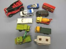 MATCHBOX DIE CAST CARS TRUCKS BUS TRAILERS HOT WHEELS LOT OF 11