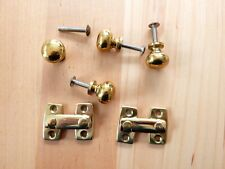 Brass Knobs Hook Screws NEW OLD STOCK Extra Material SHUTTER HARDWARE??