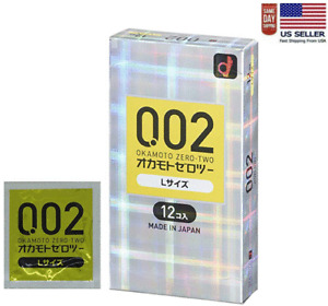 Okamoto 002 0.02EX Zero-Two Excellent Size Large L 12 Pcs (US Seller)