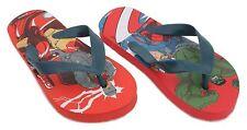 Disney Boys Character Flip Flops Red Marvel Avengers