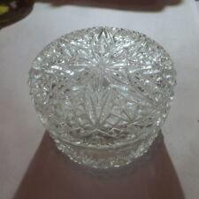 Boite à bijoux en verre ciselé