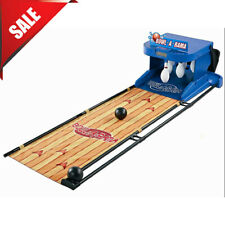 Portable Bowling Alley Set Bowl-A-Rama Indoor Outdoor Arcade Game for Kids Blue