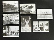 Set of 7 repro postcards, Titanic 75th Anniversary Exhibition, Harland & Wolff