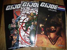 IDW GI Joe Cobra Origins tpb set 1-3 Snake Eyes graphic novel 1 2 3 lot Baroness
