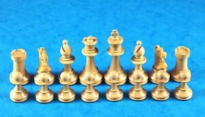 VINTAGE LARDY FRANCE CHESS SET : WEIGHTED BOXWOOD 80cm (3.1/8) KING : EXCELLENT