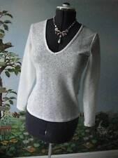 Reiss White Dandy-Fitted V Neck Long Sleeve Women's Blouse Size 4 New