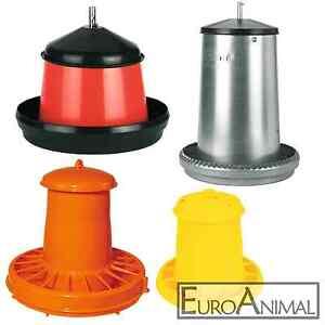 Futterautomat Geflügel Hühner Futterspender Futtertrog 2,5 Liter bis 40 Liter