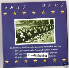 Verdrag van Rome   BU SET  2007  MET  13  VERSCHILLENDE ook 2 EURO SLOVENIE