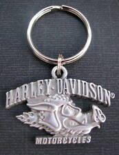 HARLEY-DAVIDSON MOTORCYCLE HOG HEAD BIKER KEYCHAIN