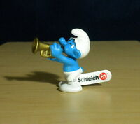 Smurfs Classic Harmony Smurf 20539 Gold Trumpet 2004 Vintage Figure PVC Figurine