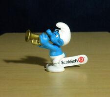 Smurfs Classic Harmony Smurf Figure Golden Trumpet 2004 Vintage Figurine 20539