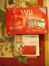NEW IN BOX RARE RED NINTENDO WII & DSi XL RED 25TH ANNIVERSARY LIMITED EDITIONS