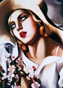 QUADRO MODERNO Tamara De Lempicka  prodotto italiano DIPINTO OLIO SU TELA