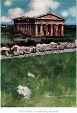 PAESTUM:Tempio di Nettuno.Principato Citra.Salerno.PASSEPARTOUT.CERTIFICATO.1907