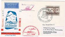1958. Bruselas  a Elchingen (Alemania). Sobre circulado con viñeta aerea