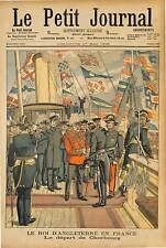 King of the United Kingdom ENGLAND Edward VII  CHERBOURG MARINE NATIONALE 1903