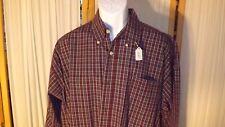 M22 Men's XL Wrangler Brgundy Plaid Long Sleeve Button Collar Shirt