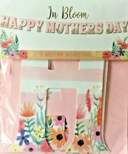 3 Metres Floral Happy Mothers Day Bunting Garland Banner Party Decoration New