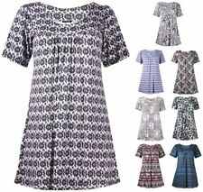Short Sleeve Other Women's Tops with Smocked