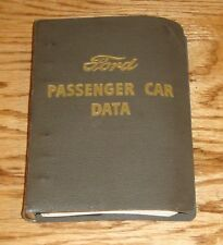 Original 1951 Ford Passenger Car Data Book 51 Country Squire Coupe Convertible