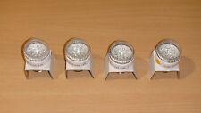 12V DC E26-E27 base Amber LED off grid solar battery bulbs 4pc lot