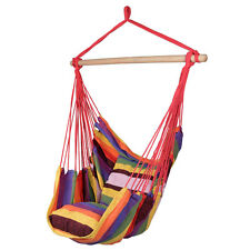 Hammock Hanging Rope Chair Porch Swing Seat Patio Camping Portable Red Stripe